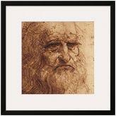 Art.com Leonardo Da Vinci Self Portrait Black Framed Wall Art