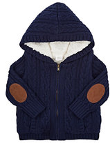 Egg Baby Sherpa-Lined Cotton Hooded Cardigan