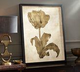 Pottery Barn Gold Leaf Tulip Framed Print