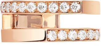 Repossi Antifer 2 Row Pave Diamond Earcuff