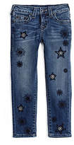 True Religion Casey Skinny Embroidered Kids Jean