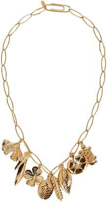 Aurelie Bidermann Actua Gold Charm Necklace
