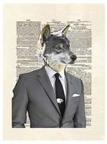 Art.com Wolf Of Wall Street by Matt Dinniman Unframed Wall Art Print