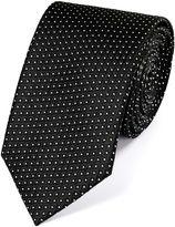 Charles Tyrwhitt Black and White Silk Neat Pattern Classic Tie Size OSFA
