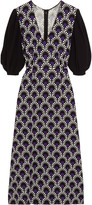Miu Miu Printed crepe midi dress