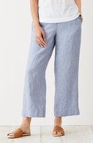 J. Jill Easy Linen Yarn-Dyed Cropped Pants