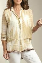 Casual Studio Camel Tie-Dye Blouse