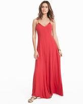 White House Black Market Tie-Up Slip Maxi Dress