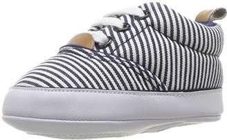 Luvable Friends Boys' Casual Print Canvas Sneaker Crib Shoe