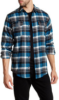 Burnside S+W Long Sleeve Regular Fit Plaid Shirt