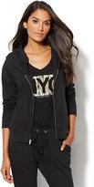 New York & Co. Cozy Lounge - Shawl-Collar Fleece Jacket