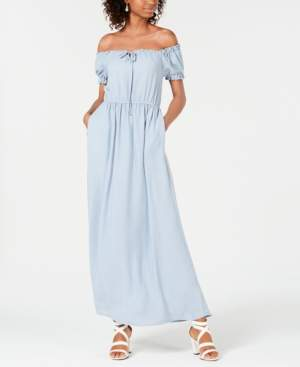 Speechless Juniors' Off-The-Shoulder Maxi Dress, Created for Macy's
