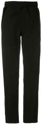Egrey Velvet Panels Trousers