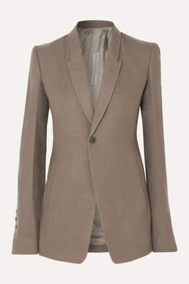 Rick Owens Wool-crepe Blazer - Light gray