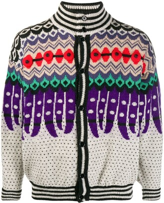 Kansai Yamamoto Pre Owned 1980s Abstract Knit Cardigan