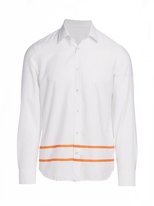 Nominee Bottom Stripe Long-Sleeve Button-Front Shirt