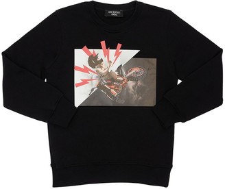Neil Barrett Printed Cotton Sweatshirt