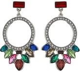 GUESS Multicolored Stone Drop Earrings (Multi) Earring