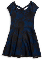 Sally Miller Girls 7-16 Ava Embroidered Mesh Dress