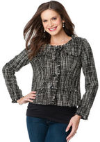 A Pea in the Pod Faux Pockets Tweed Maternity Jacket