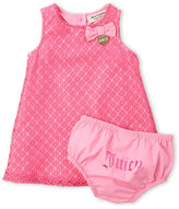 juicy couture (Newborn/Infant Girls) Two-Piece Crochet Dress & Bloomers Set