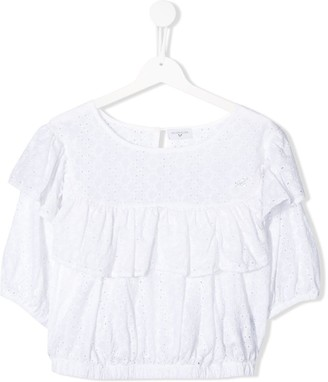 MonnaLisa TEEN tier lace blouse