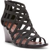 Donald J Pliner Women's JORDA - Basic Elastic and Patent Leather Wedge Sandal