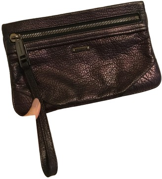 Burberry Purple Leather Clutch bags