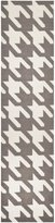 Safavieh Dhurries Collection DHU569A Hand Woven and Ivory Wool Runner, 2 feet 6 inches by 12 feet