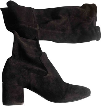 Maje Fall Winter 2019 Black Suede Boots