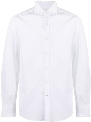 Brunello Cucinelli Spread-Collar Poplin Shirt
