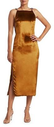 Cult Gaia Mina Velvet Midi Dress