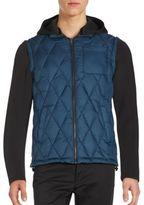Jet Lag Detachable Sleeve Down-Filled Jacket
