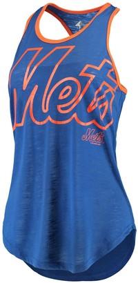 Game Time Women's G-III 4Her by Carl Banks Royal/Orange New York Mets Tank Top