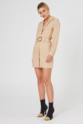 Finders Keepers BAMBI LONG SLEEVE DRESS Tan