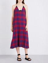 Rachel Comey Opata checked cotton midi dress