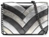 Just Cavalli Paneled Metallic Leather Shoulder Bag