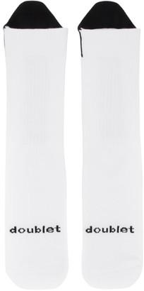 Doublet White Pull-Up Socks