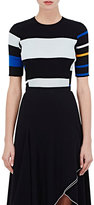 Proenza Schouler Women's Striped Rib-Knit Cotton-Silk Sweater