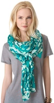 Juicy Couture Washed Hibiscus Print Scarf
