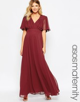 Asos 70s Maxi With Fluted Sleeve