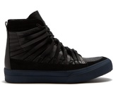 Damir Doma Falco High-top Leather And Suede Trainers