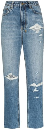 Ksubi high-waisted straight leg jeans