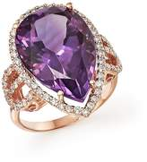Bloomingdale's Amethyst and Diamond Statement Ring in 14K Rose Gold - 100% Exclusive