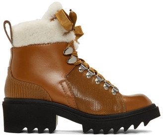 Chloé Brown Shearling Bella Mountain Boots