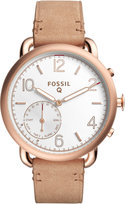 Fossil Q Women's Tailor Light Brown Leather Strap Hybrid Smart Watch 40MM FTW1129