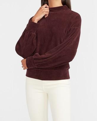 Express Corduroy Mock Neck Sweatshirt