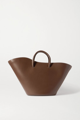 Little Liffner Open Tulip Large Leather Tote - Brown