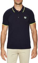 Kenzo Solid Patch Logo Pique Polo