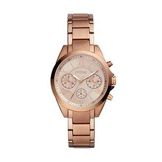 Fossil Women's Justine Quartz Watch with Stainless-Steel-Plated Strap